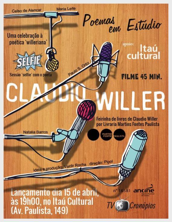 Apresentação, video e autógrafos no Itaú Cultural, terça feira dia 15, a partir das 19:30 h.