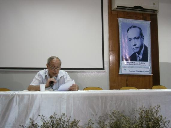 Palestra sobre Jorge de Lima em União dos Palmares, AL, terra de Jorge de Lima, a 23/04, dia de Jorge de Lima
