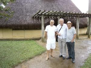 Na Serra da Barriga, no reduto de Zumbi dos Palmares, com Claude Rodrigues e Mano Melo; as demais fotos, diante da casa / memorial de Jorge de Lima e durante a palestra