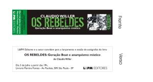 convite Os Rebeldes
