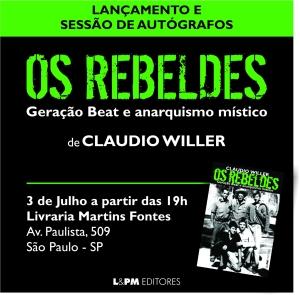 Dia 03 de julho, quinta feira, na Livraria Martins Fontes. Agradeço retransmissão e demais modos de divulgação.
