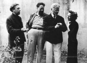 André Breton, Diego Rivera, Leon Trotsky, Jacqueline Lamba